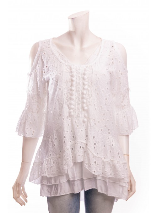 Tunique BAZIL broderie anglaise + top *9145